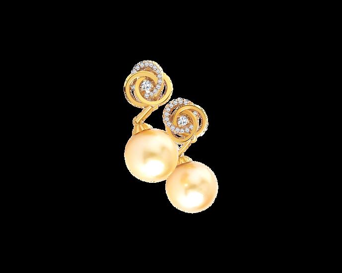 South Sea Pearl Dangling Earrings