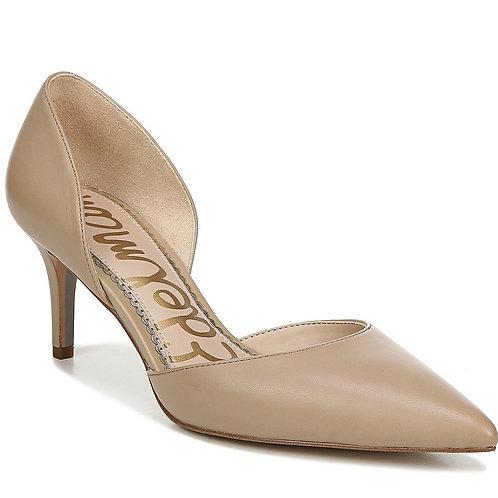 Sam Edelman Jaina d'Orsay Leather Pumps in Nude Leather