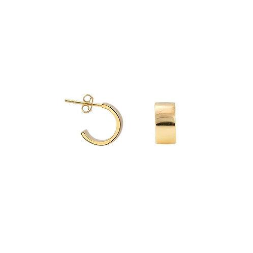 Kris Nations Wide Huggie Hoop Earrings