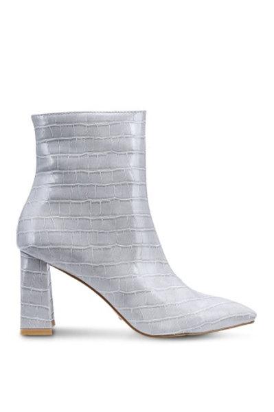 Billini Elke Bootie in Grey Croc