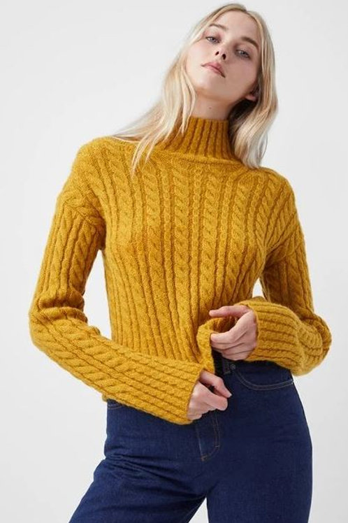 French Connection Jacqueline Cable Knit Sweater