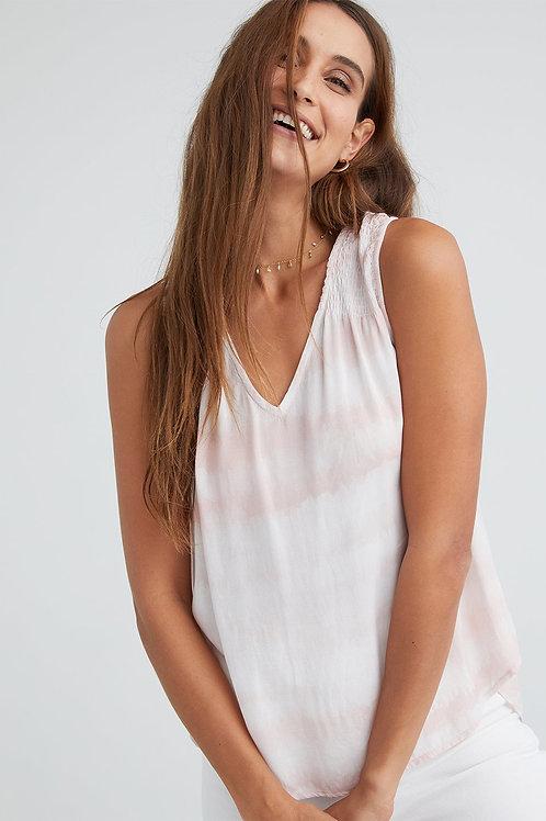 Bella Dahl Sleeveless V-Neck Smocked Top