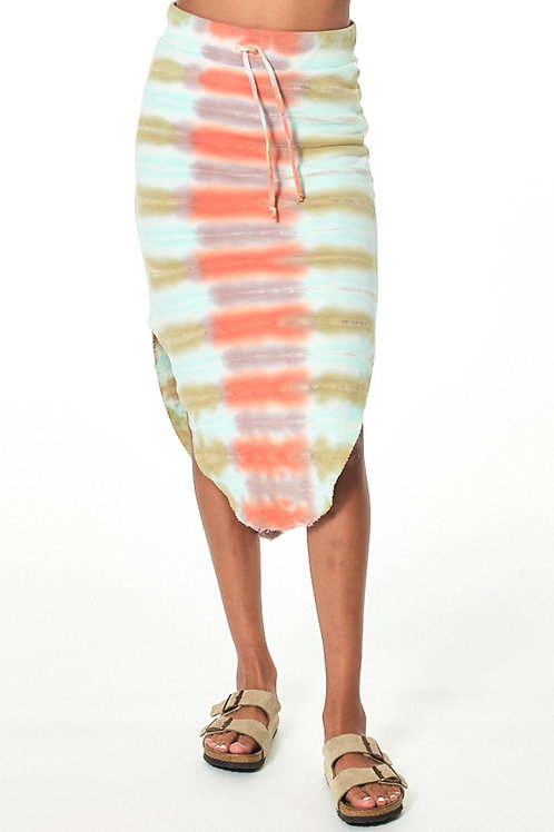 Young, Fabulous & Broke Gigi Skirt in Tangerine Chakra
