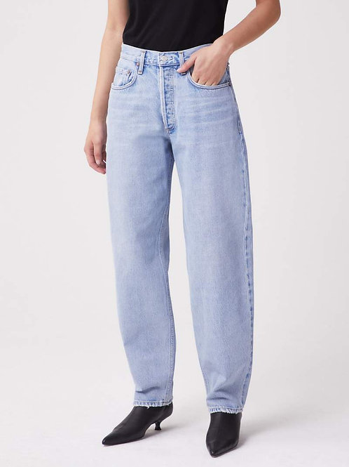 AGOLDE Tapered High Rise Baggy Jean in Dimension