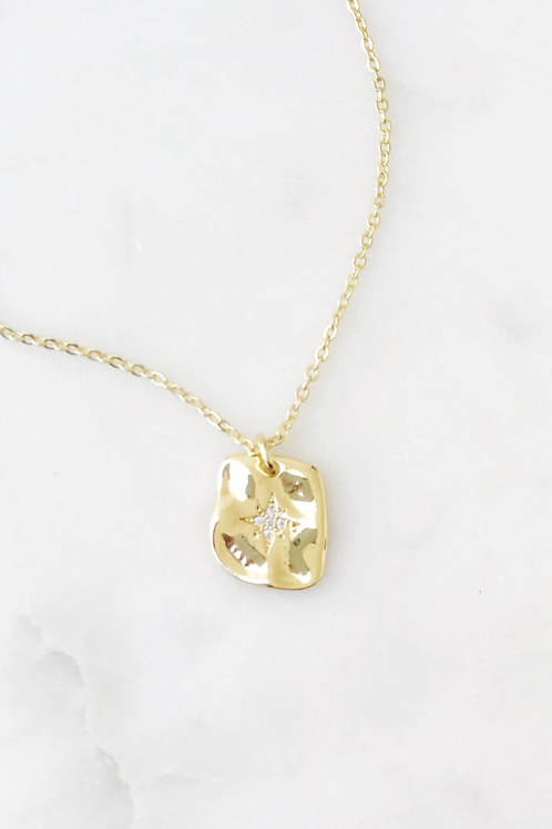 The Lucky Collective Square Starburst Necklace
