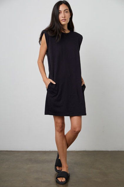 Velvet by Graham & Spencer Jenna Shoulder Pad Dress