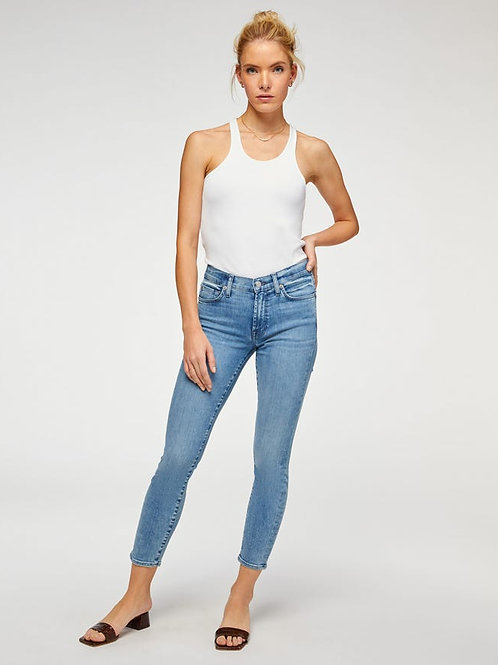 7 for All Mankind Ankle Skinny in Santana Blue