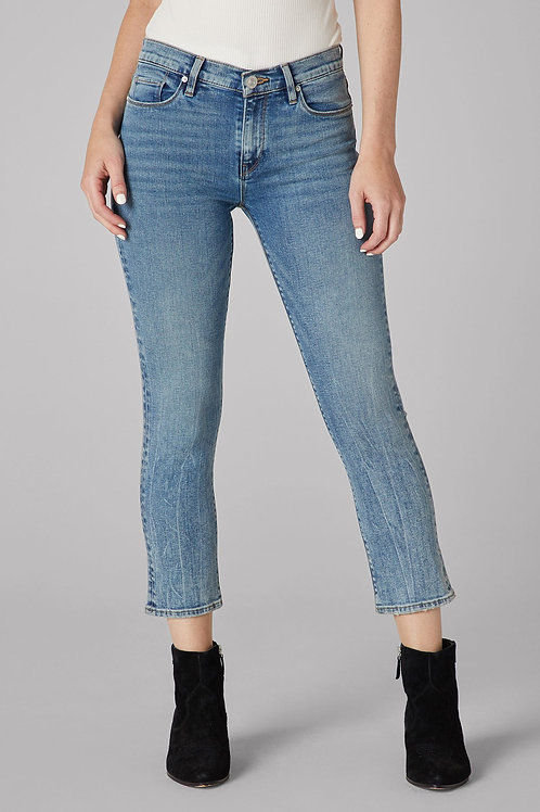 Hudson Nico Mid-Rise Rise Straight Crop Jean in Stable Heart