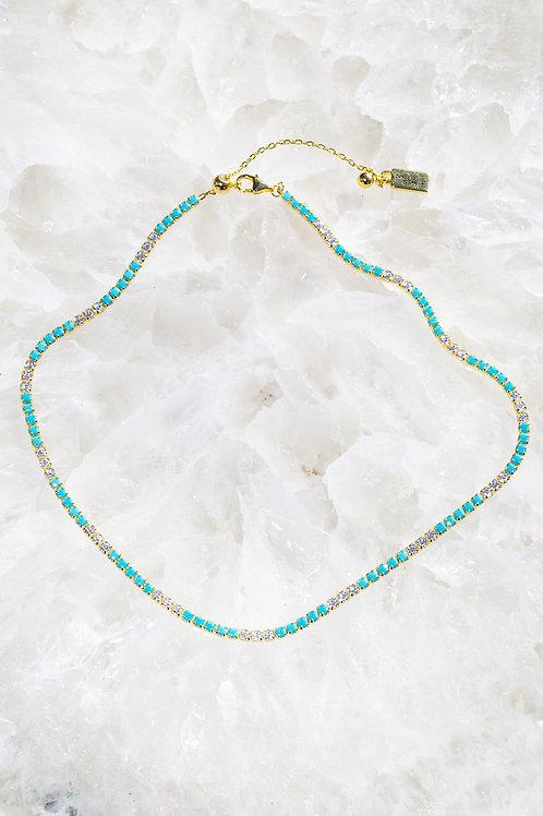 Native Gem Edge Tennis Necklace