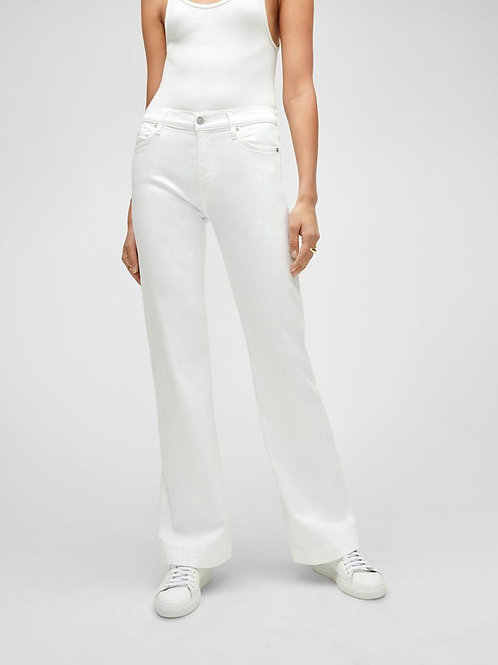 7 for All Mankind Luxe Vintage Slim Illusion Tailorless Dojo in White