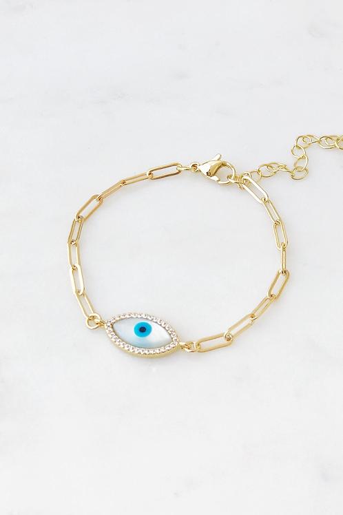 The Lucky Collective Blue Evil Eye Bracelet