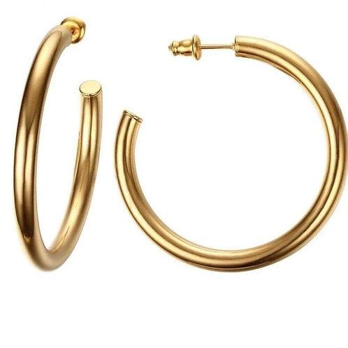 Jonesy Wood Design Lennox Medium Classic Hoop Earrings