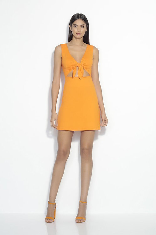 Susana Monaco Bow Front Sleeveless Cutout Dress in Popsicle