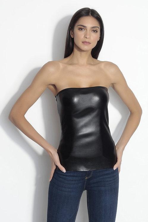 Susana Monaco Faux Leather Tube Top