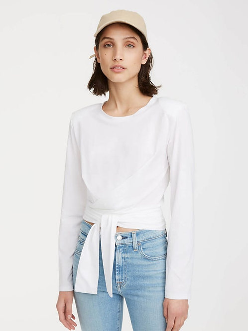7 for All Mankind Shoulder Pad Twist Tee