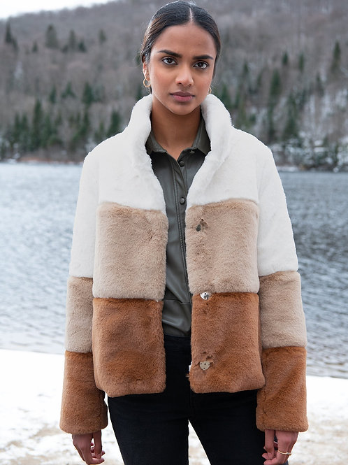 Soia & Kyo Bea Faux Fur Coat
