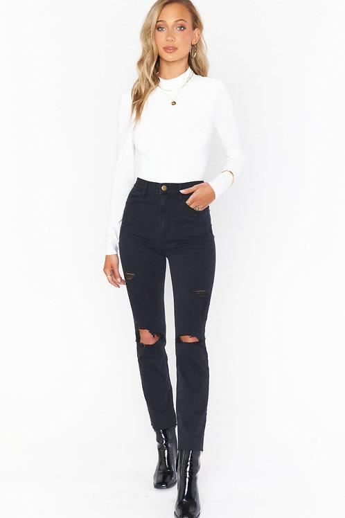 Show Me Your Mumu Soho Zip Up Skinny Jeans