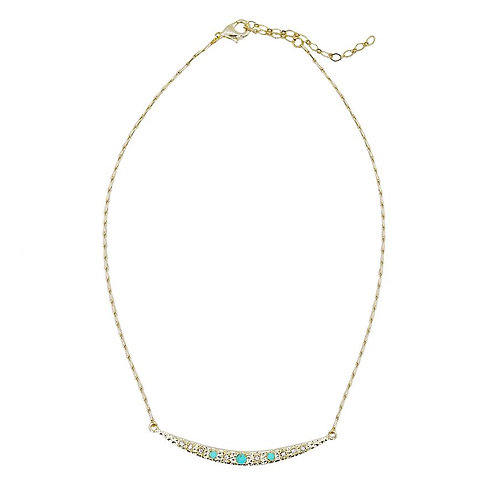 Ayana Designs Turquoise Crescent Necklace