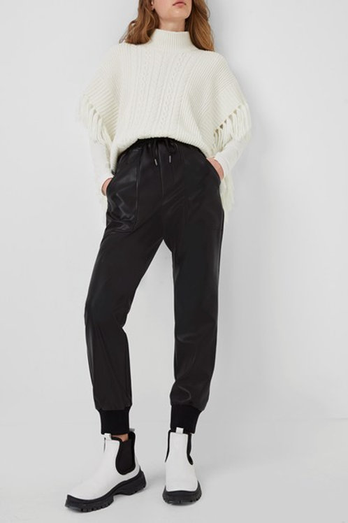French Connection Vegan Leather Joggers
