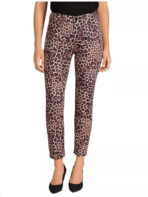 JEN7 by 7 for All Mankind Skinny Ankle Jeans in Golden Leopard