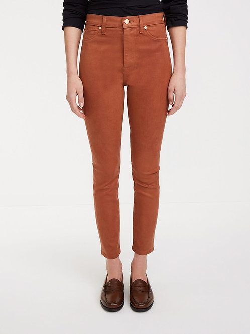 7 for All Mankind High Waist Ankle Skinny in Coated Spice