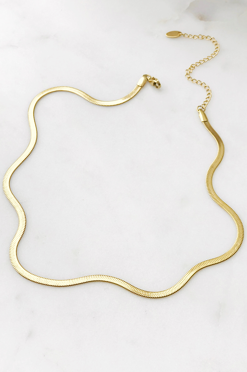 The Lucky Collective Herringbone Necklace