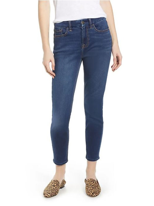 JEN7 by 7 For All Mankind Ankle Skinny Jeans in Classic Medium Blue