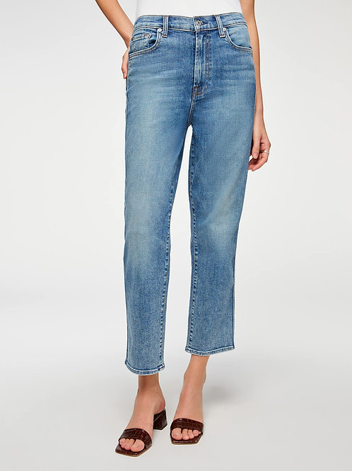 7 for All Mankind Luxe Vintage High Waist Cropped Straight