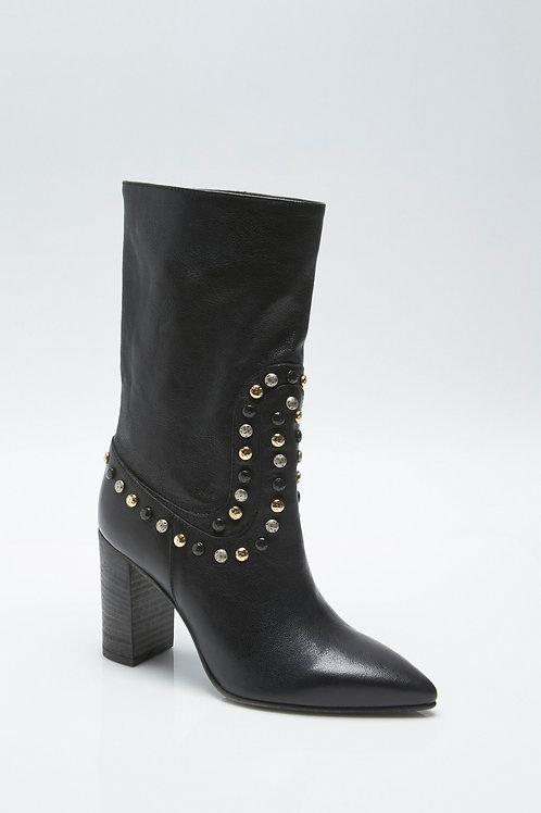 Free People Studded Dakota Heel Boots