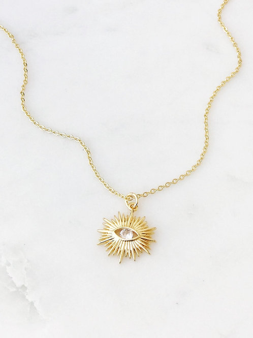 The Lucky Collective Deco Starburst Necklace