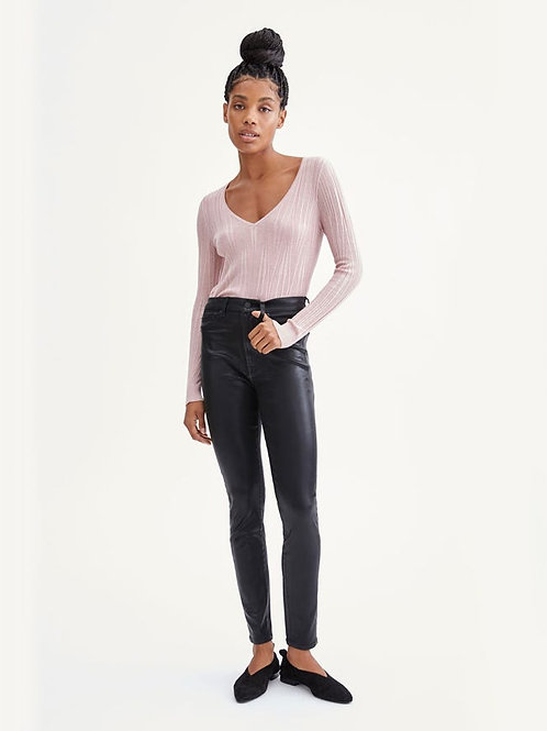 7 for All Mankind Coated B(air) HW Ankle Skinny in Black