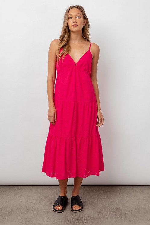 Rails Avril Eyelet Embroidered Midi Dress