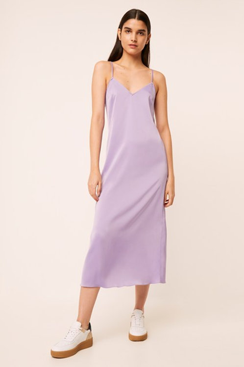 French Connection Silky Slip Dress in Soft Violet