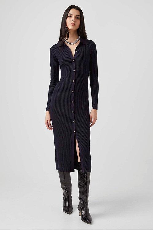 French Connection Mari Plated Cardigan Midi Dress
