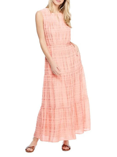 Gal Meets Glam Collection Fiona Tiered Maxi Dress in Coral