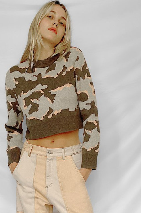 French Connection Kylah Camo Sweater