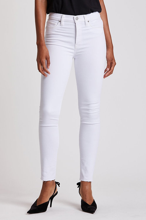 Hudson Barbara High-Rise Skinny Ankle Jean in White
