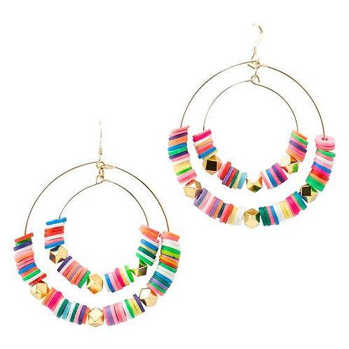 Marli & Lenny Rainbow Double Hoops