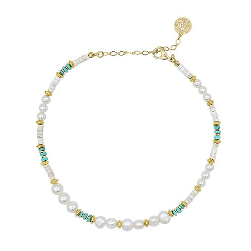 Ayana Designs Pearl Turquoise Convertible Choker