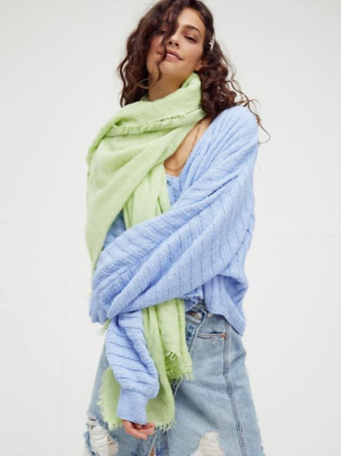 Free People Sun Washed Travel Scarf in Pistachio