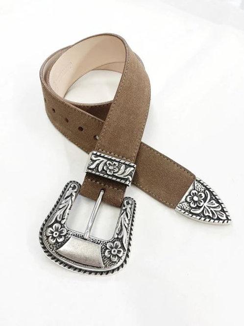 Brave Leather Isabeli Western Buckle Belt