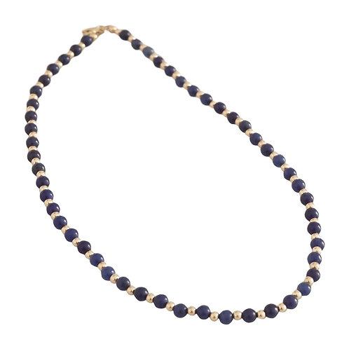 Marli & Lenny Gold and Stone Beaded Necklace