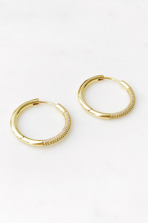 The Lucky Collective CZ Hoops