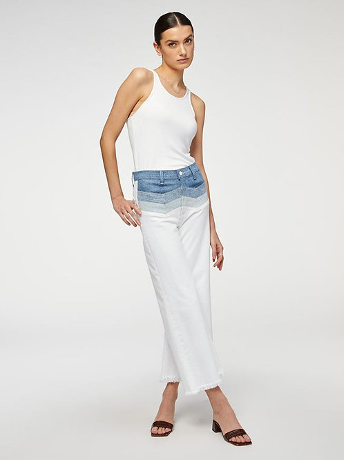 7 for All Mankind High Waist Cropped Flare With Chevron Seaming