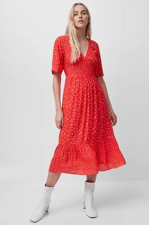 French Connection Fayola Drape Midi Tea Dress