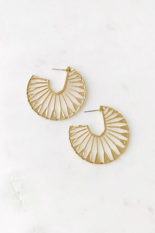 The Lucky Collective Deco Statement Earrings