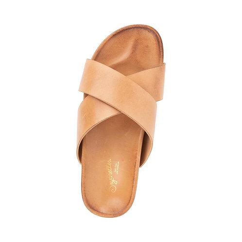 Seychelles Lighthearted Leather Slide Sandal