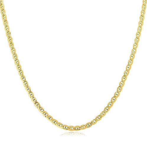 Elizabeth Stone Thin Mariner Chain Necklace