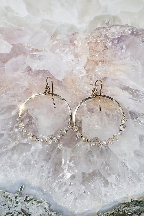 Native Gem Fairydust Circle Earrings