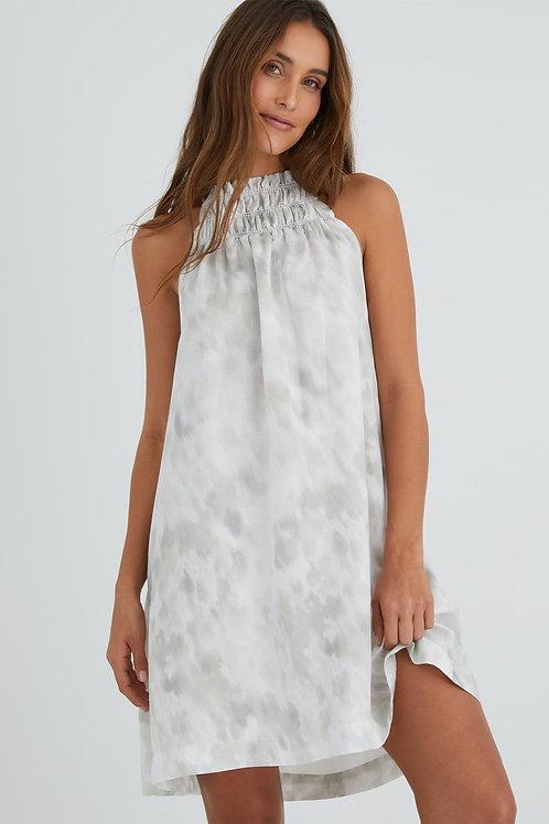 Bella Dahl Smocked Ruffle Mini Dress